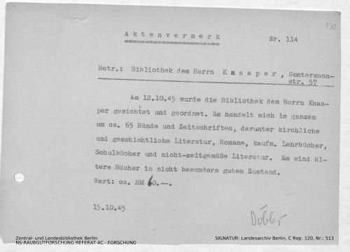 Landesarchiv Berlin, C Rep. 120 Nr. 513, Bl. 130/131
