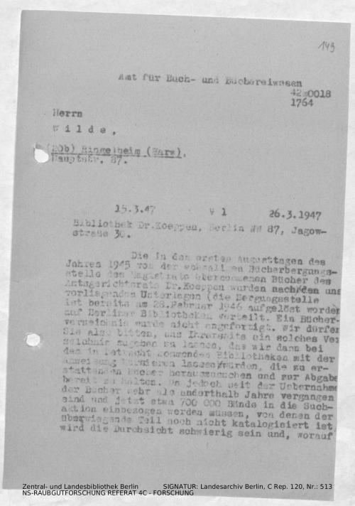 Landesarchiv Berlin, C Rep. 120 Nr. 513, Bl. 149