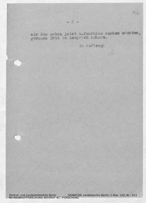 Landesarchiv Berlin, C Rep. 120 Nr. 513, Bl. 150