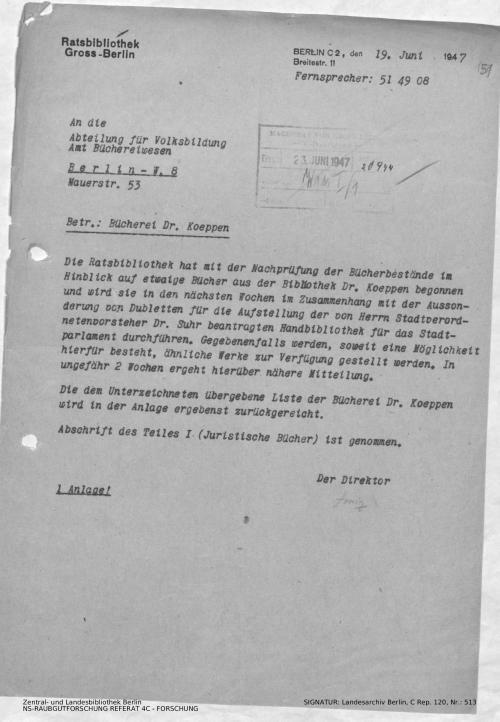 Landesarchiv Berlin, C Rep. 120 Nr. 513, Bl. 151