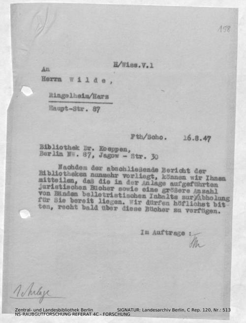 Landesarchiv Berlin, C Rep. 120 Nr. 513, Bl. 158
