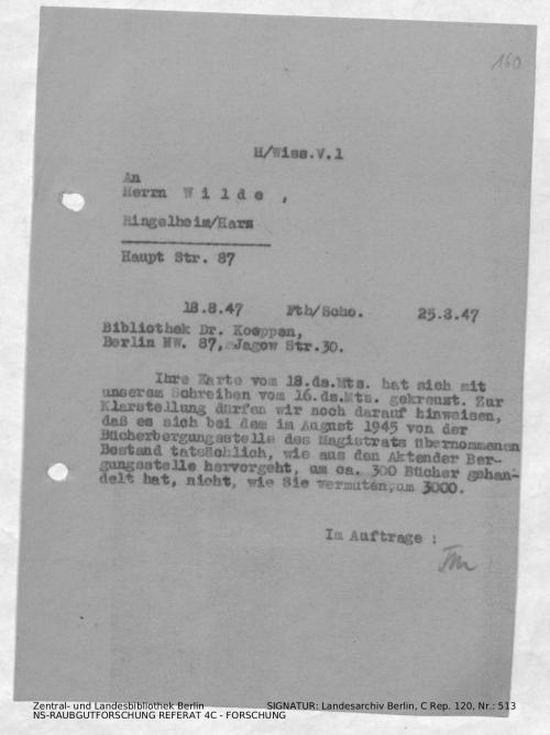 Landesarchiv Berlin, C Rep. 120 Nr. 513, Bl. 160