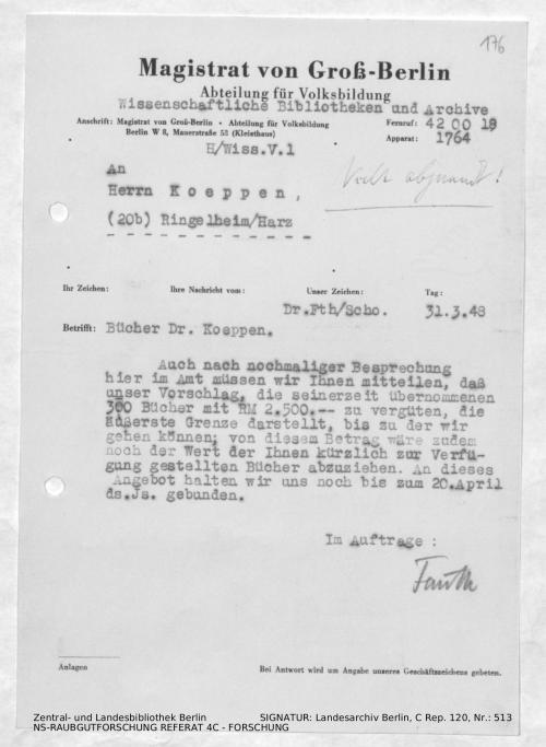 Landesarchiv Berlin, C Rep. 120 Nr. 513, Bl. 176