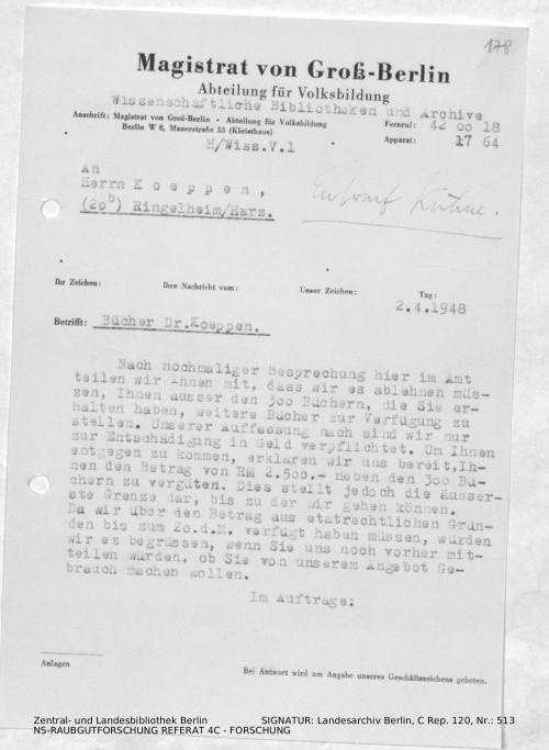 Landesarchiv Berlin, C Rep. 120 Nr. 513, Bl. 178