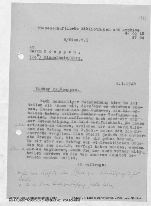 Landesarchiv Berlin, C Rep. 120 Nr. 513, Bl. 179