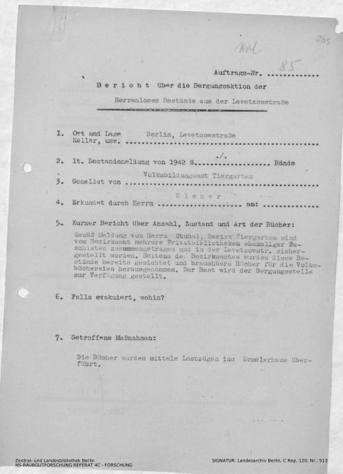 Landesarchiv Berlin, C Rep. 120 Nr. 513, Bl. 205