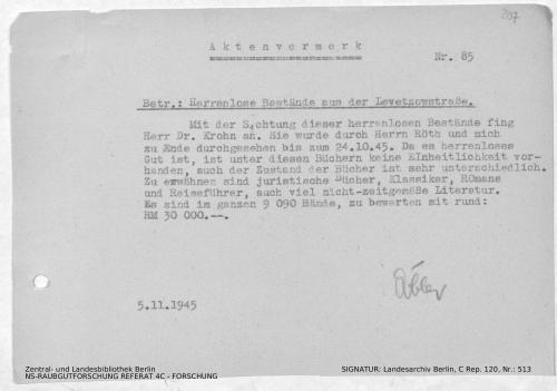 Landesarchiv Berlin, C Rep. 120 Nr. 513, Bl. 207