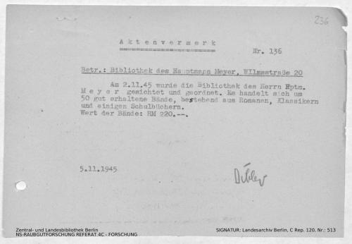 Landesarchiv Berlin, C Rep. 120 Nr. 513, Bl. 236