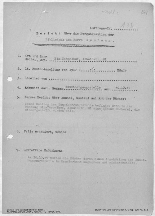 Landesarchiv Berlin, C Rep. 120 Nr. 513, Bl. 264
