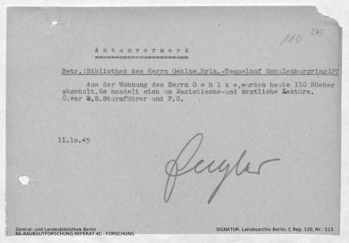 Landesarchiv Berlin, C Rep. 120 Nr. 513, Bl. 274/275