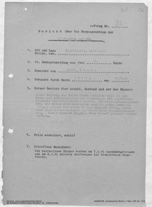 Landesarchiv Berlin, C Rep. 120 Nr. 513, Bl. 276