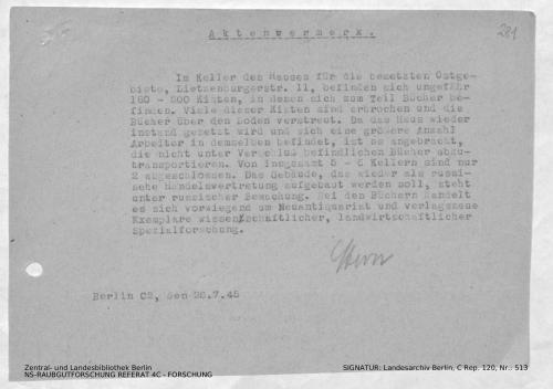 Landesarchiv Berlin, C Rep. 120 Nr. 513, Bl. 281