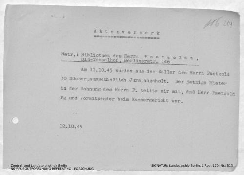 Landesarchiv Berlin, C Rep. 120 Nr. 513, Bl. 284