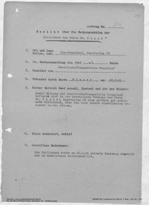 Landesarchiv Berlin, C Rep. 120 Nr. 513, Bl. 289
