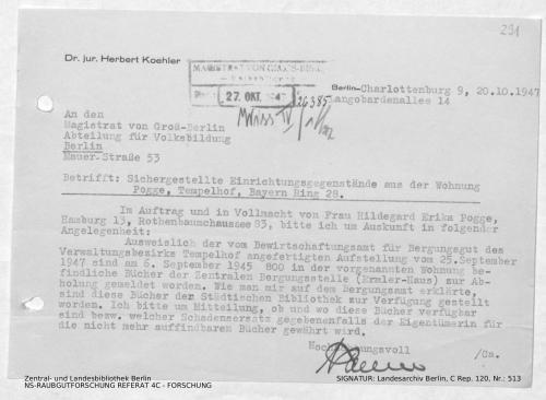 Landesarchiv Berlin, C Rep. 120 Nr. 513, Bl. 291