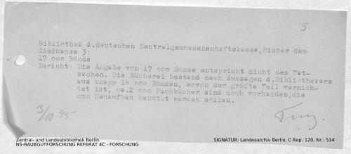 Bibliothek der Deutschen Zentralgenossenschaftskasse