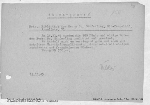 Landesarchiv Berlin, C Rep. 120 Nr. 514, Bl. 45