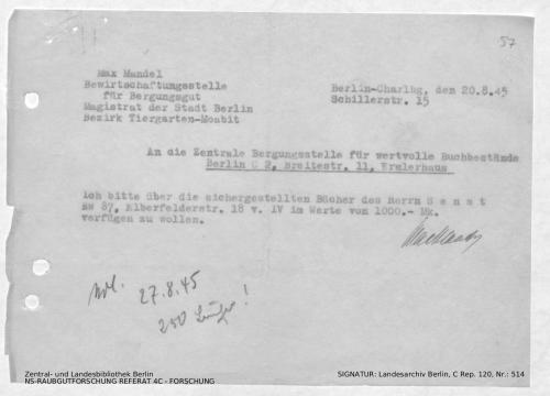Landesarchiv Berlin, C Rep. 120 Nr. 514, Bl. 57