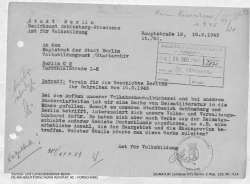 Landesarchiv Berlin, C Rep. 120 Nr. 514, Bl. 73