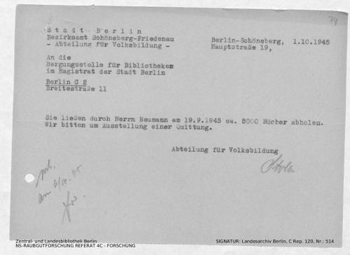 Landesarchiv Berlin, C Rep. 120 Nr. 514, Bl. 74