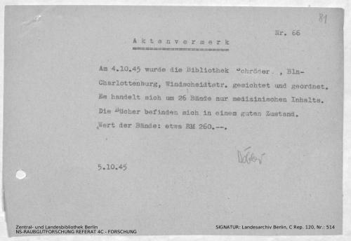 Landesarchiv Berlin, C Rep. 120 Nr. 514, Bl. 81