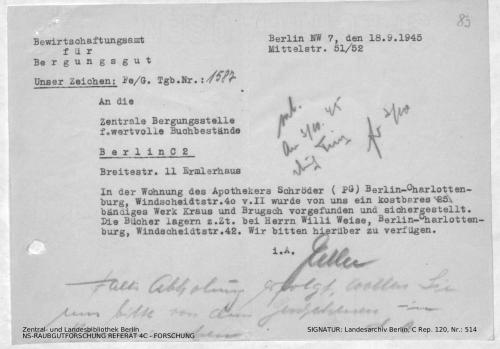 Landesarchiv Berlin, C Rep. 120 Nr. 514, Bl. 83