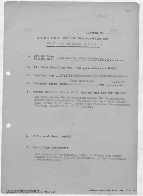 Landesarchiv Berlin, C Rep. 120 Nr. 514, Bl. 104