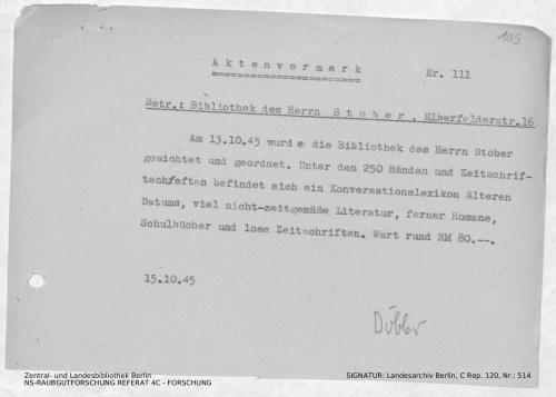 Landesarchiv Berlin, C Rep. 120 Nr. 514, Bl. 105