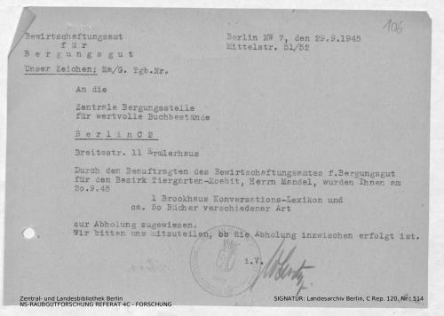 Landesarchiv Berlin, C Rep. 120 Nr. 514, Bl. 106