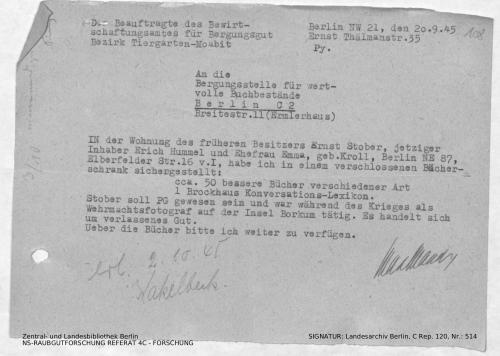 Landesarchiv Berlin, C Rep. 120 Nr. 514, Bl. 108