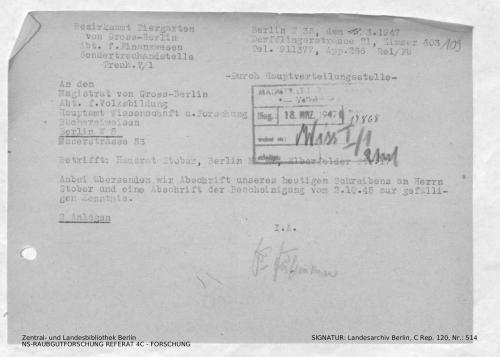 Landesarchiv Berlin, C Rep. 120 Nr. 514, Bl. 109