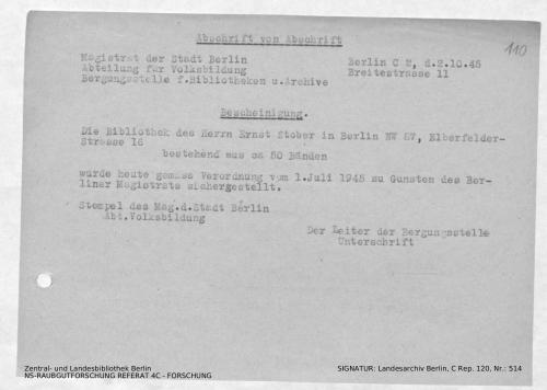 Landesarchiv Berlin, C Rep. 120 Nr. 514, Bl. 110