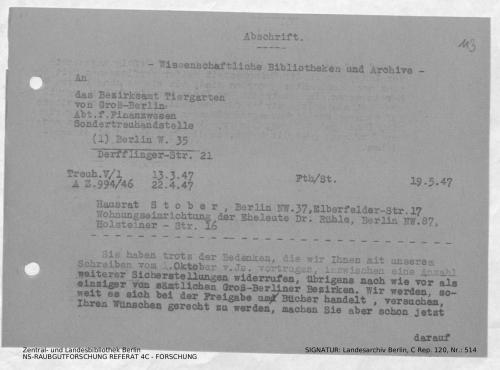Landesarchiv Berlin, C Rep. 120 Nr. 514, Bl. 113