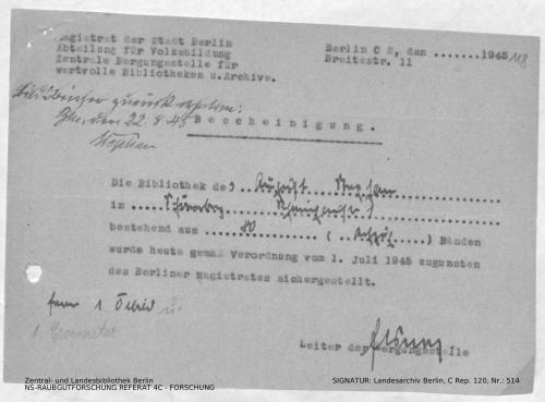 Landesarchiv Berlin, C Rep. 120 Nr. 514, Bl. 118