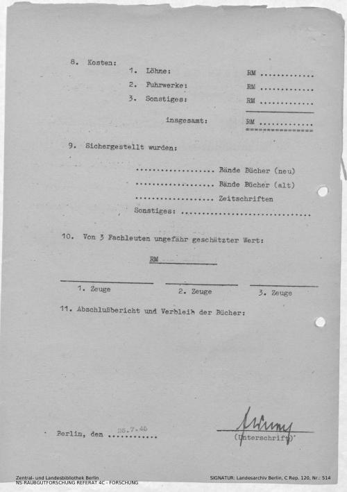 Landesarchiv Berlin, C Rep. 120 Nr. 514, Bl. 119