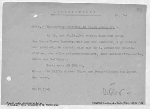 Landesarchiv Berlin, C Rep. 120 Nr. 514, Bl. 129