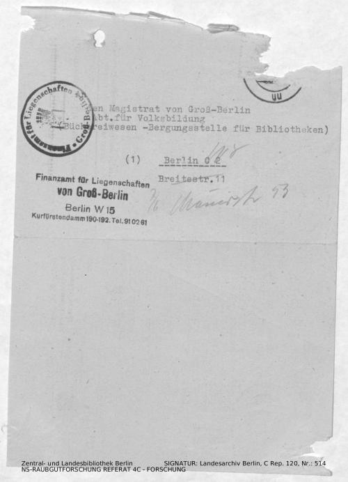 Landesarchiv Berlin, C Rep. 120 Nr. 514, Bl. 131