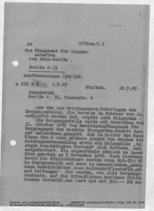 Landesarchiv Berlin, C Rep. 120 Nr. 514, Bl. 132