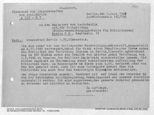 Landesarchiv Berlin, C Rep. 120 Nr. 514, Bl. 134