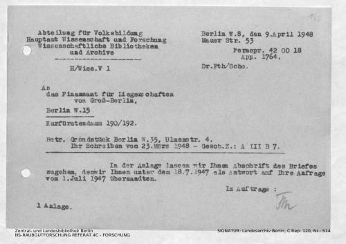Landesarchiv Berlin, C Rep. 120 Nr. 514, Bl. 135