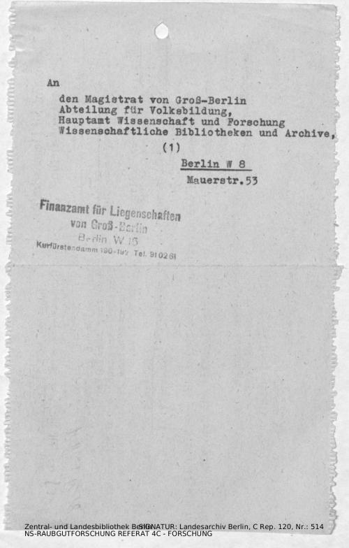 Landesarchiv Berlin, C Rep. 120 Nr. 514, Bl. 138