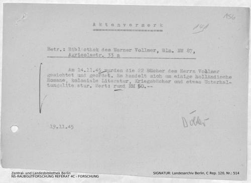 Landesarchiv Berlin, C Rep. 120 Nr. 514, Bl. 156
