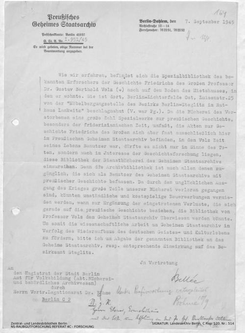Landesarchiv Berlin, C Rep. 120 Nr. 514, Bl. 164