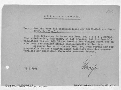 Landesarchiv Berlin, C Rep. 120 Nr. 514, Bl. 165