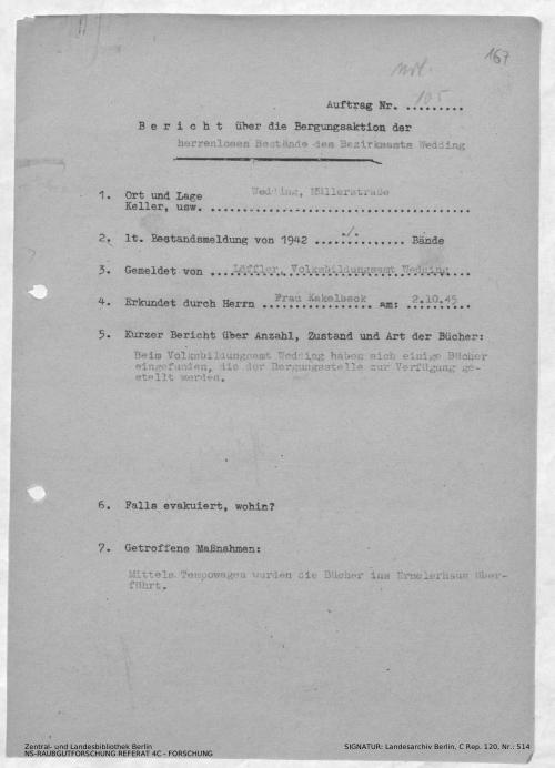 Landesarchiv Berlin, C Rep. 120 Nr. 514, Bl. 167