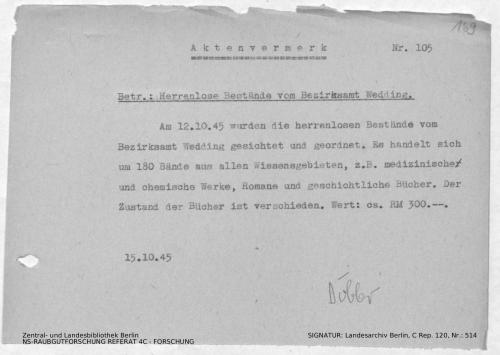 Landesarchiv Berlin, C Rep. 120 Nr. 514, Bl. 169