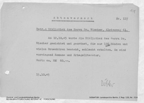 Landesarchiv Berlin, C Rep. 120 Nr. 514, Bl. 171