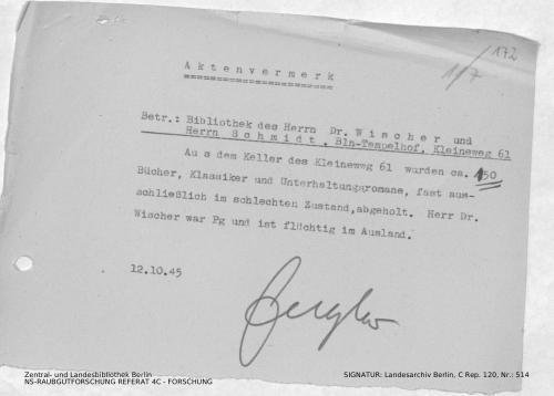 Landesarchiv Berlin, C Rep. 120 Nr. 514, Bl. 172