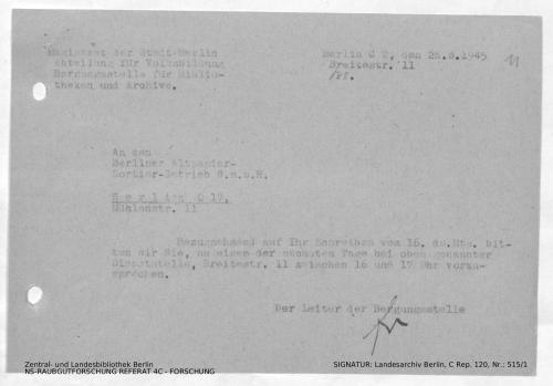 Landesarchiv Berlin, C Rep. 120 Nr. 515/1, Bl. 11