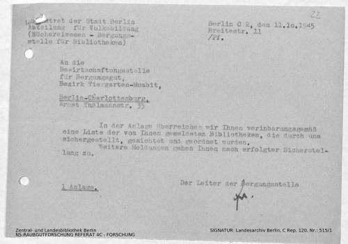 Landesarchiv Berlin, C Rep. 120 Nr. 515/1, Bl. 22